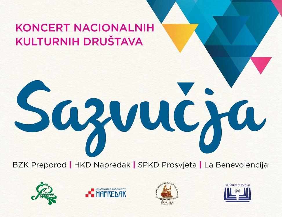 """Najava koncerta """"Sazvučja"""" u organizaciji četiri nacionalna kulturna društva u Bosni i Hercegovini"""