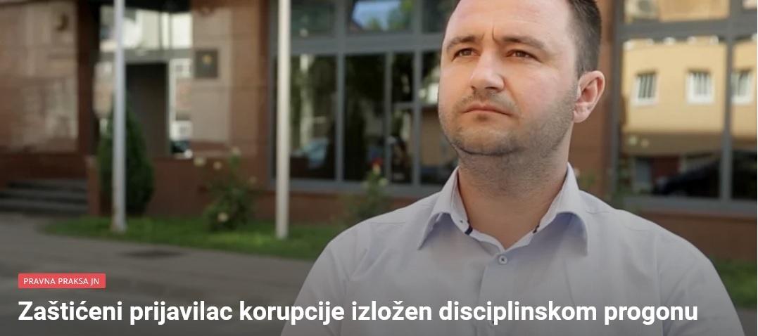 Zaštićeni prijavilac korupcije izložen disciplinskom progonu